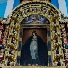 Arte: RETABLO DE LA VIRGEN INMACULADA Y QUERUBINES EN MADERA. Lote 179027431