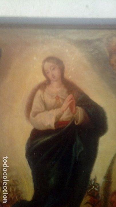 Arte: Escuela española S.XIX Inmaculada oleo sobre lienzo - Foto 2 - 179033767