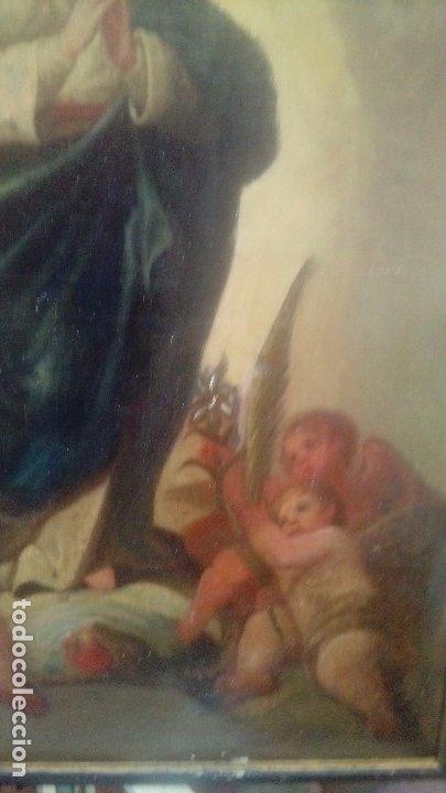 Arte: Escuela española S.XIX Inmaculada oleo sobre lienzo - Foto 3 - 179033767