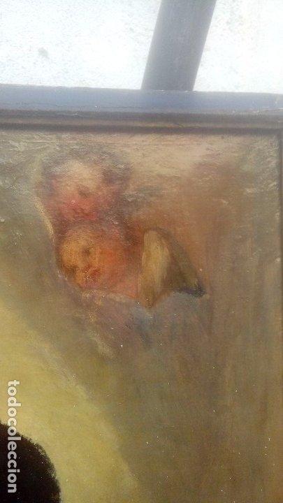 Arte: Escuela española S.XIX Inmaculada oleo sobre lienzo - Foto 6 - 179033767