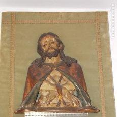 Arte: ANTIGUA TALLA RELIEVE MADERA CRISTO ATADO SIGLO XVII XVIII. Lote 179053772