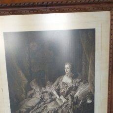 Arte: MAGNIFICA REPRODUCION DE RETRATO ORIGINAL DE LA MARQUESA DE POMPADOUR DE BOUCHER . Lote 179068220