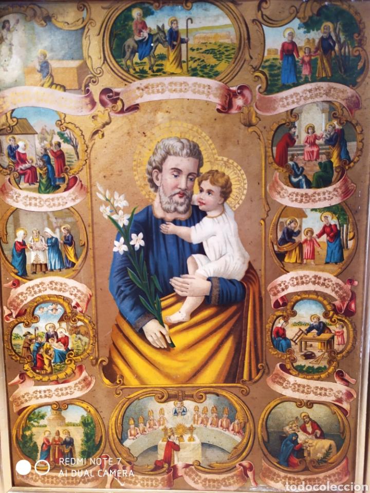 Arte: MARAVILLOSA CROMOLITOGRAFIA RELIGIOSA, SIGLO XIX O PP XX, ÚNICA, VER - Foto 7 - 179084170