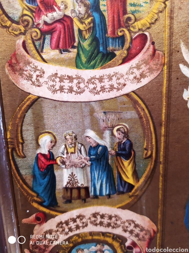Arte: MARAVILLOSA CROMOLITOGRAFIA RELIGIOSA, SIGLO XIX O PP XX, ÚNICA, VER - Foto 17 - 179084170