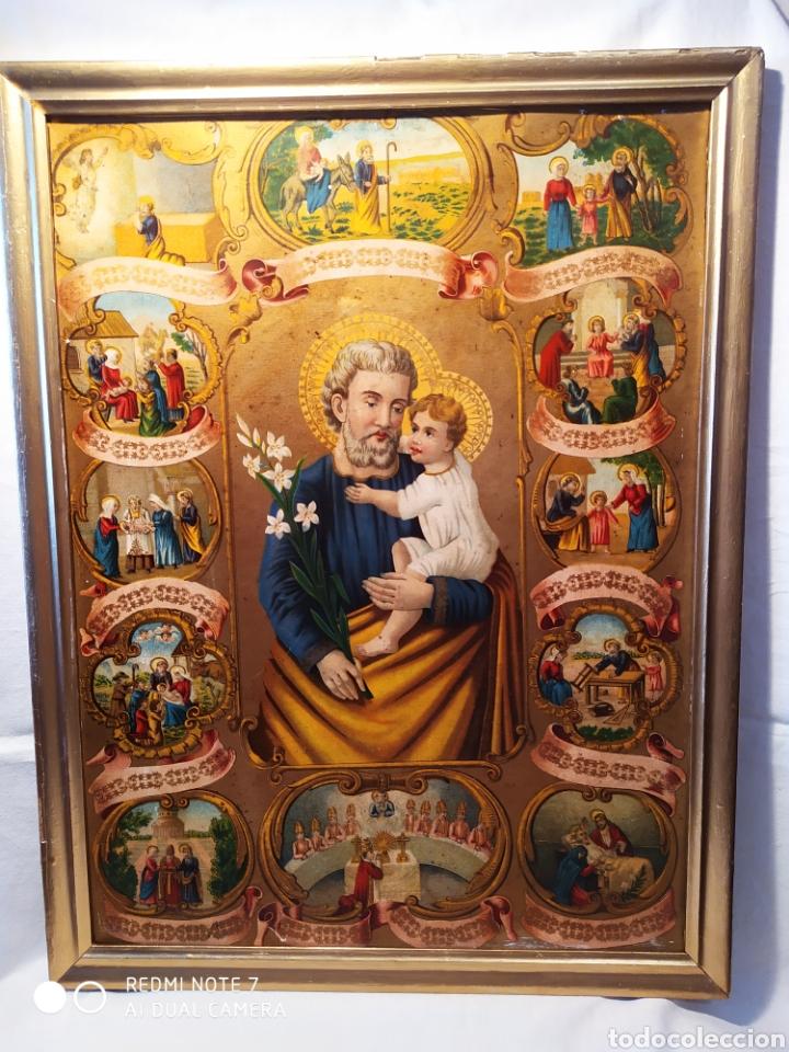 Arte: MARAVILLOSA CROMOLITOGRAFIA RELIGIOSA, SIGLO XIX O PP XX, ÚNICA, VER - Foto 24 - 179084170