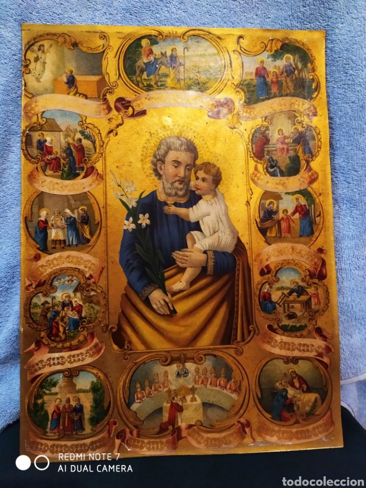 Arte: MARAVILLOSA CROMOLITOGRAFIA RELIGIOSA, SIGLO XIX O PP XX, ÚNICA, VER - Foto 29 - 179084170