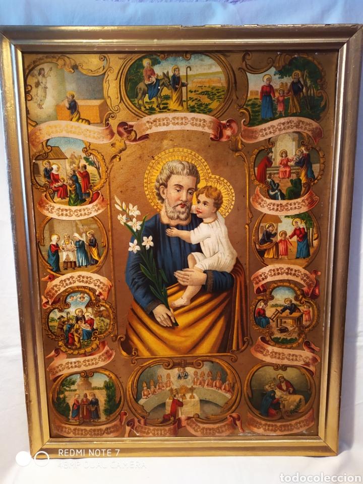 MARAVILLOSA CROMOLITOGRAFIA RELIGIOSA, SIGLO XIX O PP XX, ÚNICA, VER (Arte - Arte Religioso - Litografías)
