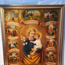 Arte: MARAVILLOSA CROMOLITOGRAFIA RELIGIOSA, SIGLO XIX O PP XX, ÚNICA, VER. Lote 179084170
