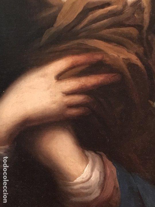 Arte: IMPRESIONANTE DOLOROSA SIGLO XIX FIRMADA - Foto 3 - 179137366