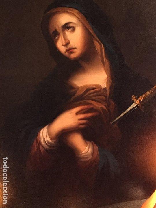 Arte: IMPRESIONANTE DOLOROSA SIGLO XIX FIRMADA - Foto 4 - 179137366