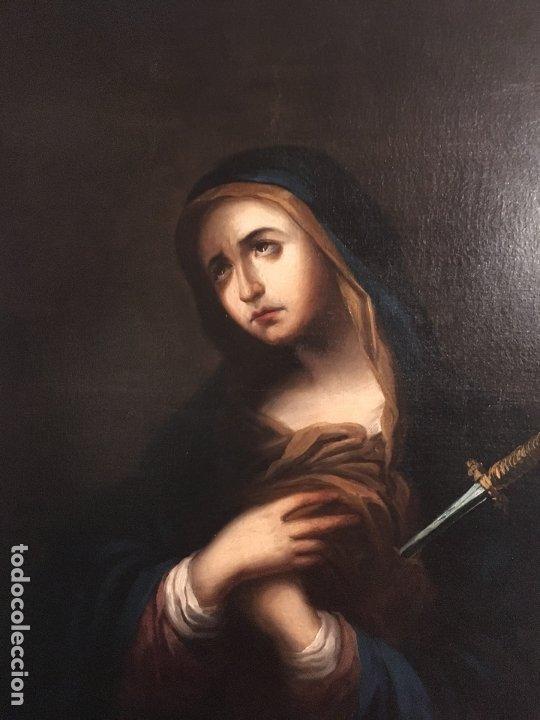 Arte: IMPRESIONANTE DOLOROSA SIGLO XIX FIRMADA - Foto 5 - 179137366