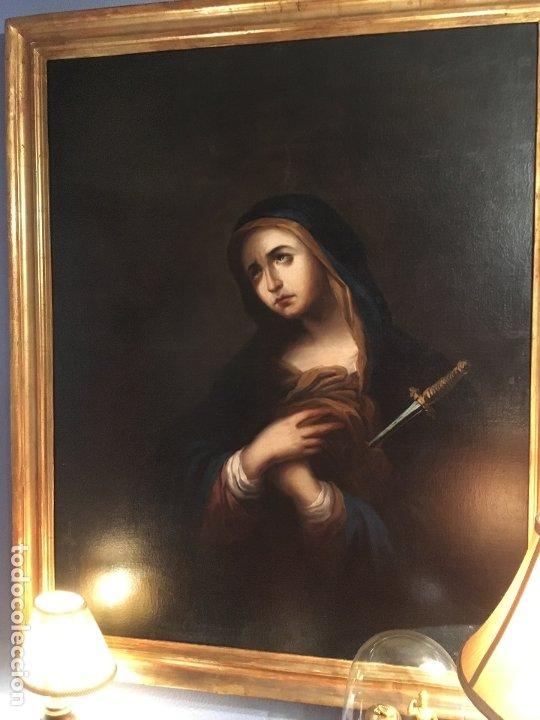 Arte: IMPRESIONANTE DOLOROSA SIGLO XIX FIRMADA - Foto 8 - 179137366