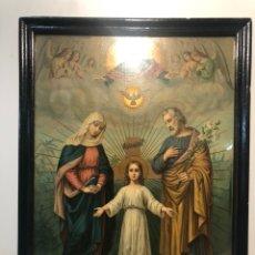 Arte: CROMOLITOGRAFIA DE LA SAGRADA FAMILIA ANTIGUA.. Lote 179159088