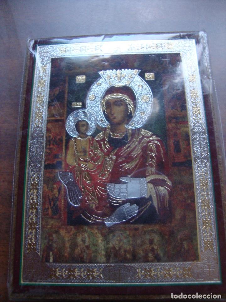 PRECIOSO CUADRO TIPO ICONO DIMENSIONES 8,5 X 6 CM ESTADO PERFECTO (Arte - Arte Religioso - Iconos)
