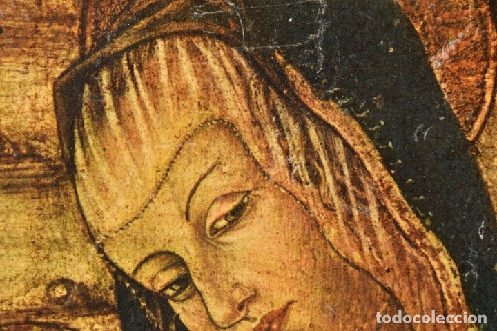Arte: ANTIGUO ICONO MADERA SIGLO XVIII -XIX 38X28 CM - Foto 6 - 179207901