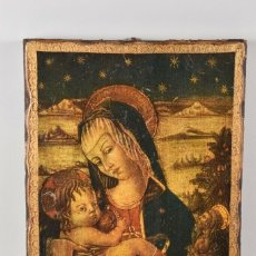 Arte: ANTIGUO ICONO MADERA SIGLO XVIII -XIX 38X28 CM. Lote 179207901