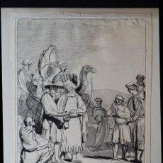 Arte: REMBRANDT-CAYLUS: JOSEPH EST VENDU ..., AGUAFUERTE DE 1757. Lote 179242602