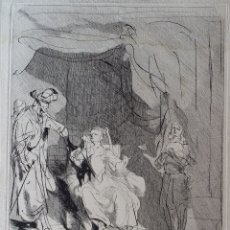 Arte: REMBRANDT-CAYLUS: LA FEMME DE PUTIPHAR ACCUSE JOSEPH ..., AGUAFUERTE DE 1757. Lote 179242970