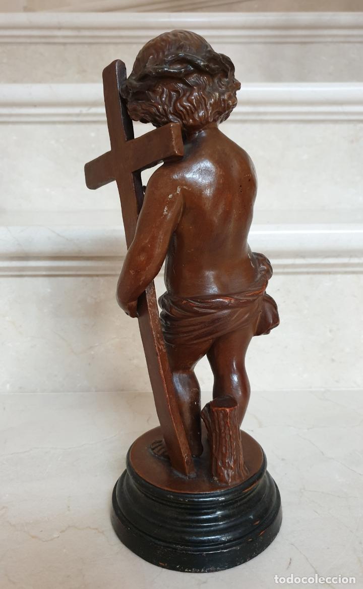Arte: PRECIOSO NIÑO JESUS ANTIGUO EN TERRACOTA CON CRUZ Y CORONA DE ESPINAS,S. XIX - Foto 6 - 179244155