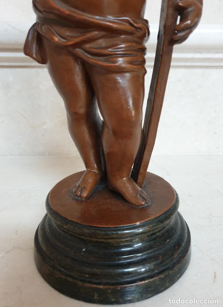 Arte: PRECIOSO NIÑO JESUS ANTIGUO EN TERRACOTA CON CRUZ Y CORONA DE ESPINAS,S. XIX - Foto 9 - 179244155