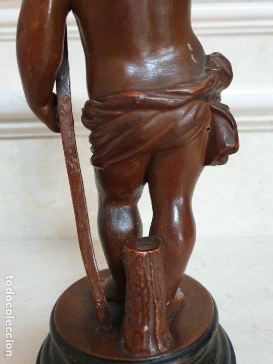Arte: PRECIOSO NIÑO JESUS ANTIGUO EN TERRACOTA CON CRUZ Y CORONA DE ESPINAS,S. XIX - Foto 11 - 179244155