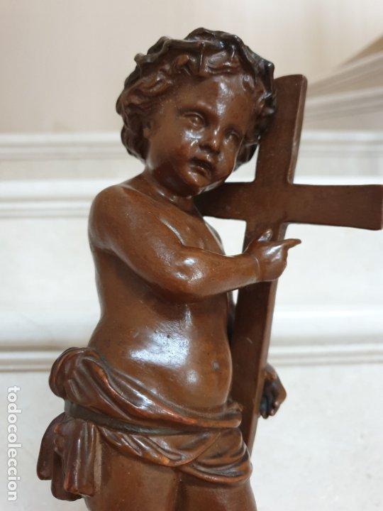 Arte: PRECIOSO NIÑO JESUS ANTIGUO EN TERRACOTA CON CRUZ Y CORONA DE ESPINAS,S. XIX - Foto 12 - 179244155