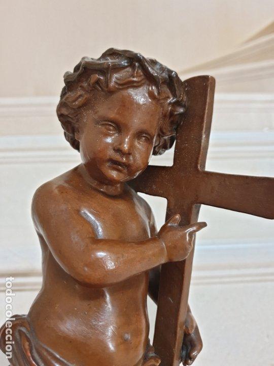 Arte: PRECIOSO NIÑO JESUS ANTIGUO EN TERRACOTA CON CRUZ Y CORONA DE ESPINAS,S. XIX - Foto 17 - 179244155