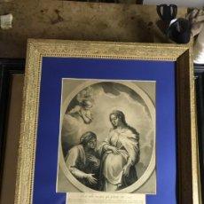 Arte: MAGNIFICO GRABADO LA VIRGEN Y SANTA ANA, GRAN FORMATO. Lote 179328005