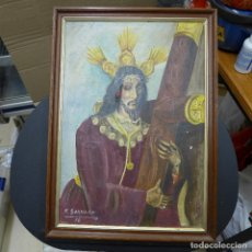 Arte: IMAGEN DE JESUS NAZARENO PINTADO POR EL PINTOR F. SALVAGO AÑO 1976. Lote 179330472