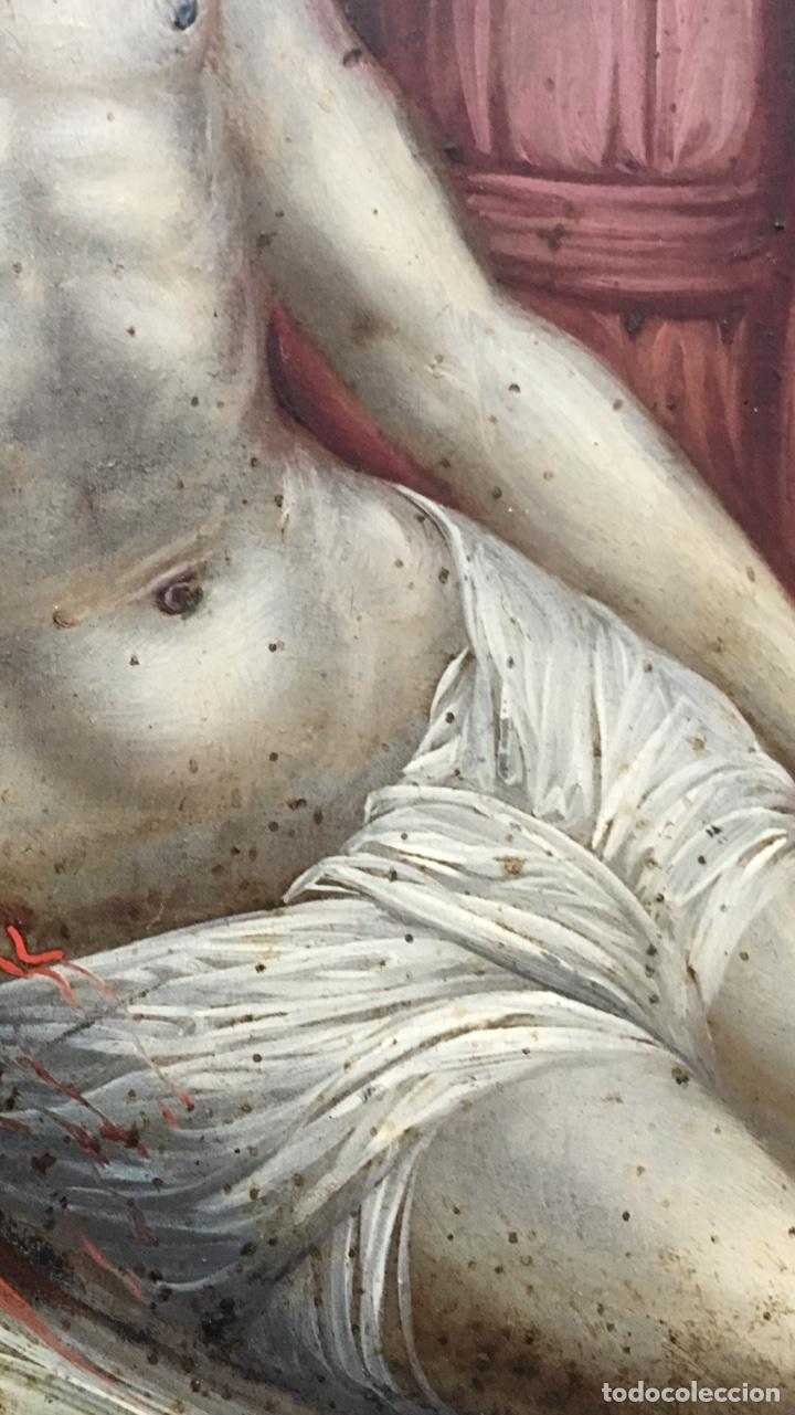 Arte: La Piedad. Óleo sobre cobre. S.XVI. Escuela española - Foto 7 - 179333900