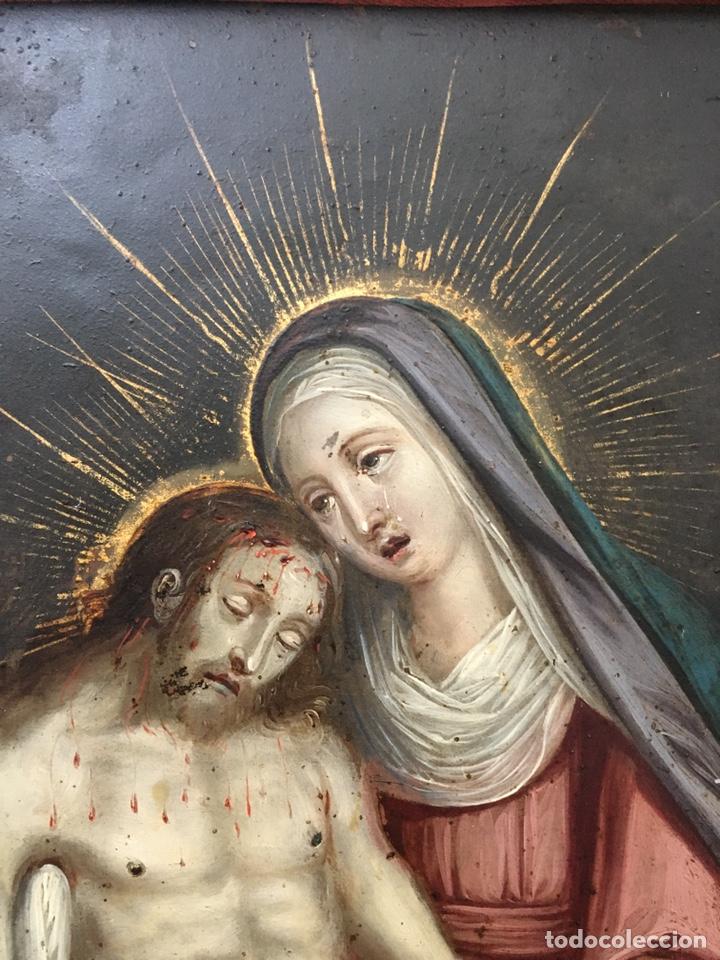 Arte: La Piedad. Óleo sobre cobre. S.XVI. Escuela española - Foto 17 - 179333900