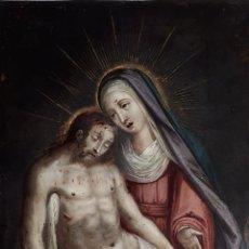 Arte: LA PIEDAD. ÓLEO SOBRE COBRE. S.XVI. ESCUELA ESPAÑOLA. Lote 179333900