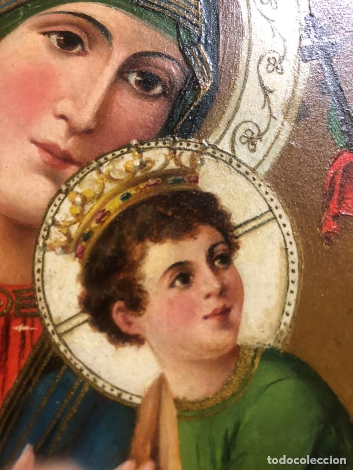 Arte: Oleo/tabla pintura del siglo XIX medidas 27x26 con marco 34x43 - Foto 3 - 177867184
