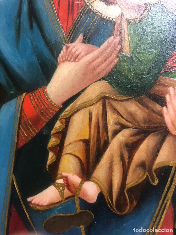 Arte: Oleo/tabla pintura del siglo XIX medidas 27x26 con marco 34x43 - Foto 4 - 177867184
