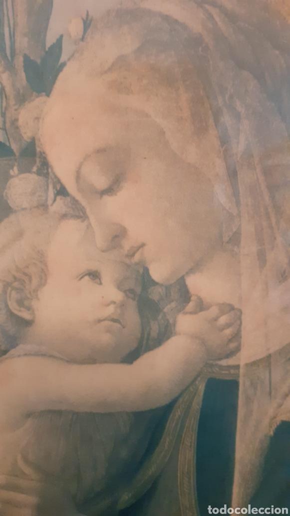 Arte: VIRGEN MARÍA. JESÚS. IMAGEN SOBRE MADERA. - Foto 2 - 179385787