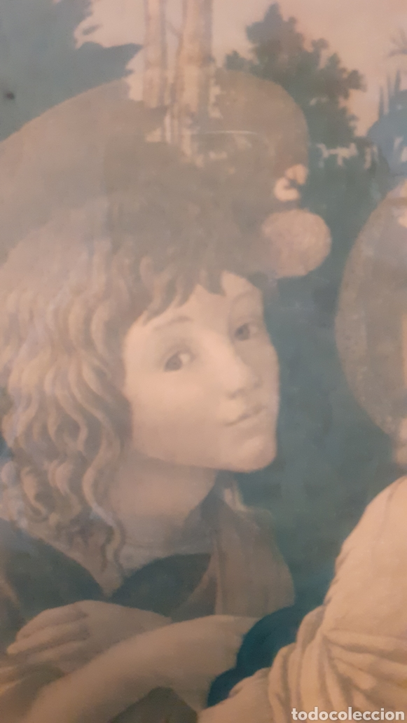 Arte: VIRGEN MARÍA. JESÚS. IMAGEN SOBRE MADERA. - Foto 3 - 179385787