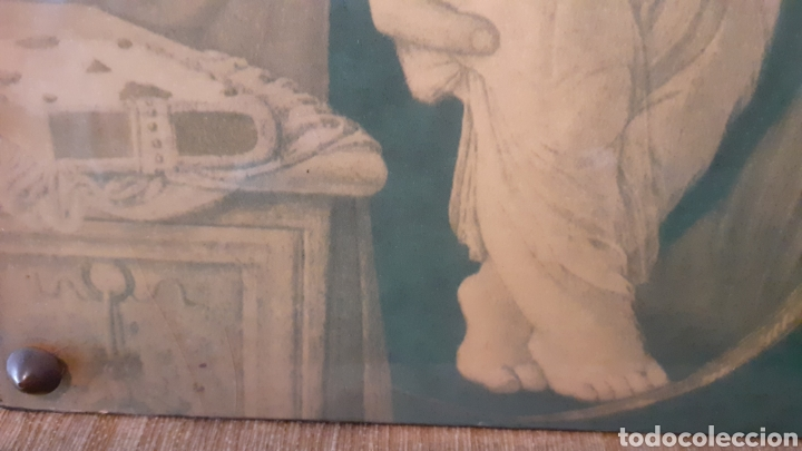 Arte: VIRGEN MARÍA. JESÚS. IMAGEN SOBRE MADERA. - Foto 4 - 179385787