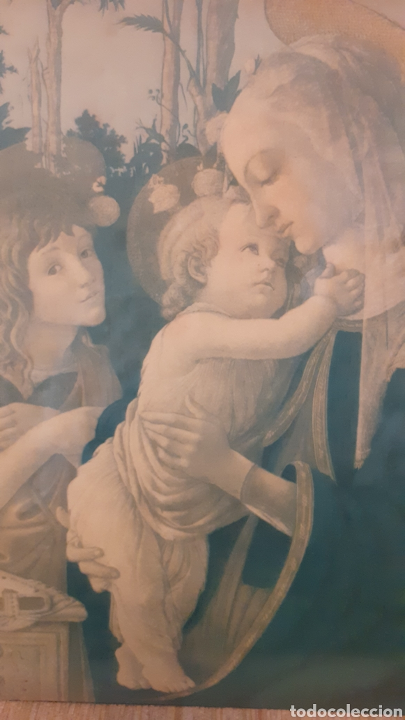 VIRGEN MARÍA. JESÚS. IMAGEN SOBRE MADERA. (Arte - Arte Religioso - Iconos)