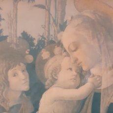 Arte: VIRGEN MARÍA. JESÚS. IMAGEN SOBRE MADERA.. Lote 179385787