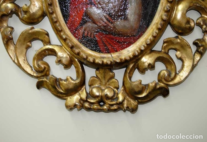 Arte: ÓLEO SOBRE LIENZO CRISTO CON MARCO TALLADO SIGLO XVIII - Foto 4 - 179944515