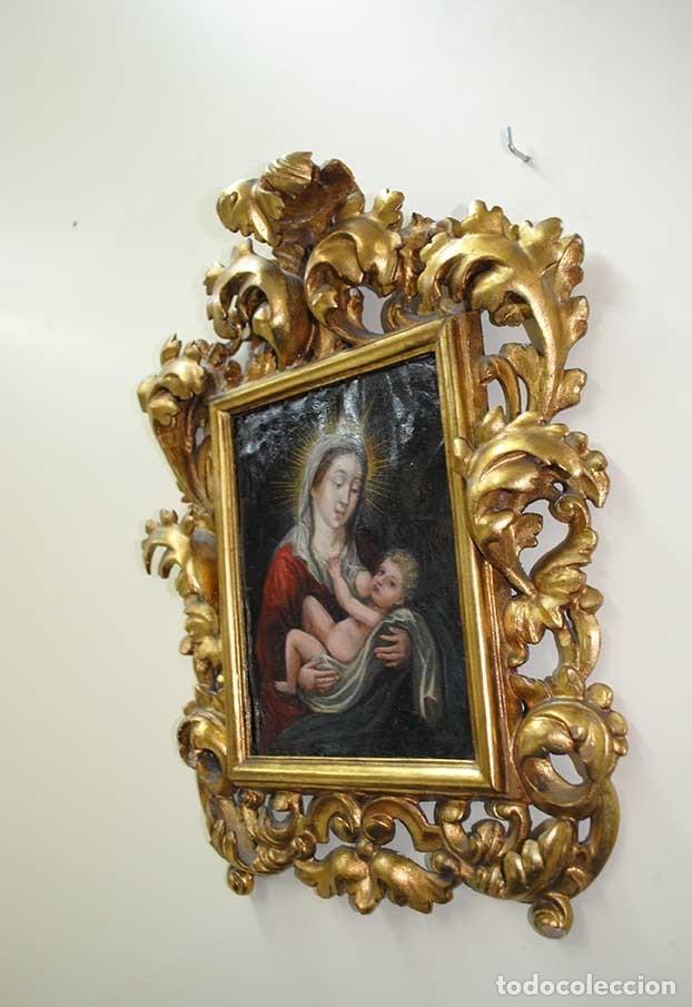 Arte: PINTURA ANTIGUA SOBRE COBRE SIGLO XVIII VIRGEN Y NIÑO - Foto 5 - 179944611