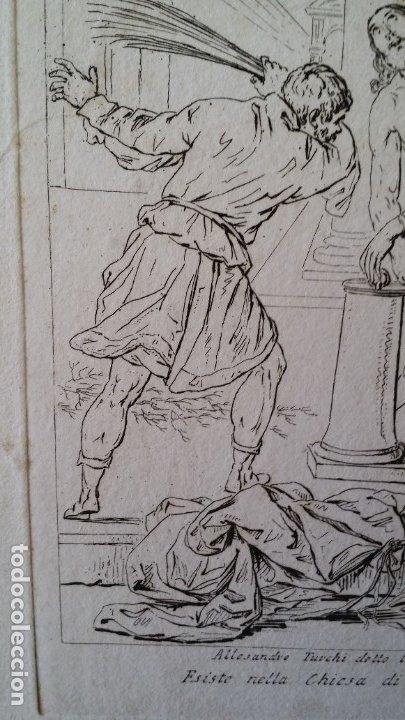 Arte: Gaetano ZANCON-Turchi dit L Orbetto , Jesús flagelado, aguafuerte, Verona, 1809 - Foto 3 - 179947203