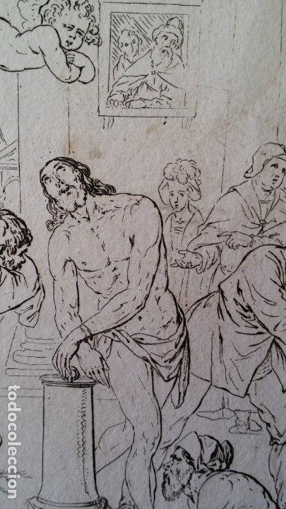 Arte: Gaetano ZANCON-Turchi dit L Orbetto , Jesús flagelado, aguafuerte, Verona, 1809 - Foto 4 - 179947203