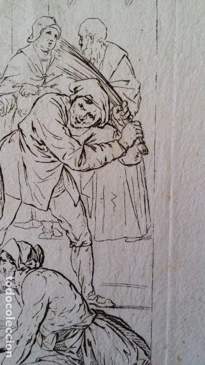 Arte: Gaetano ZANCON-Turchi dit L Orbetto , Jesús flagelado, aguafuerte, Verona, 1809 - Foto 5 - 179947203