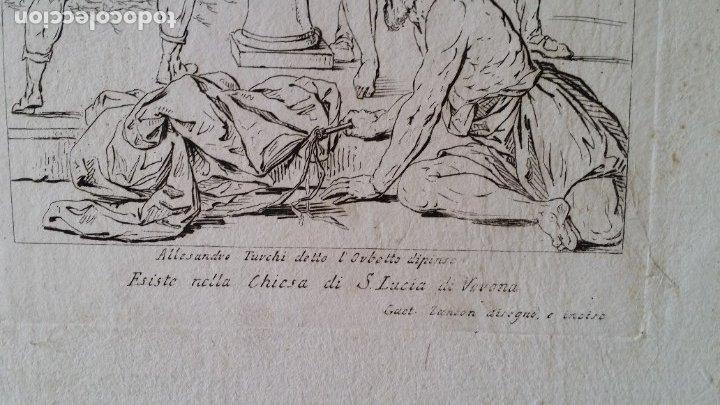 Arte: Gaetano ZANCON-Turchi dit L Orbetto , Jesús flagelado, aguafuerte, Verona, 1809 - Foto 7 - 179947203