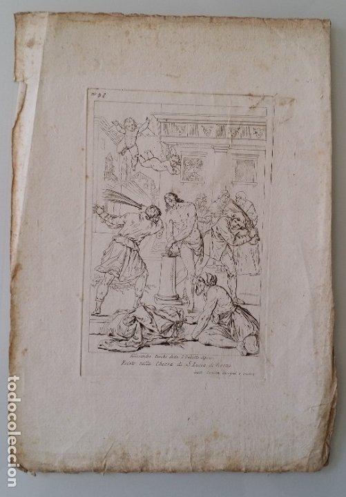 Arte: Gaetano ZANCON-Turchi dit L Orbetto , Jesús flagelado, aguafuerte, Verona, 1809 - Foto 8 - 179947203
