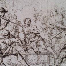 Arte: GAETANO ZANCON - SIGISMONDO DE STEFANI , SAN LORENZO, AGUAFUERTE, VERONA, 1809. Lote 179947905