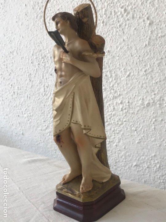 Arte: SAN SEBASTIÁN DE ESTUCO POLICROMADO - OLOT 1920'S. OJOS DE CRISTAL. VER FOTOS ANEXAS. - Foto 3 - 179960568