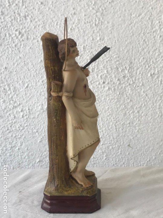 Arte: SAN SEBASTIÁN DE ESTUCO POLICROMADO - OLOT 1920'S. OJOS DE CRISTAL. VER FOTOS ANEXAS. - Foto 7 - 179960568