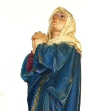 Arte: VIRGEN DOLOROSA. ESTUCO POLICROMADO. CON SELLO DE LAS ARTES RELIGIOSAS. ESPAÑA. XIX. Lote 179962352
